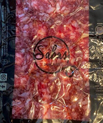 Sobre de salchichón ibérico de bellota - Sabas Jamones